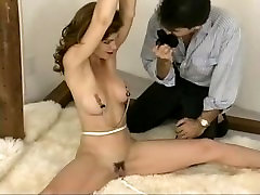 Tape Gagged & Nipple Clamped Bondage