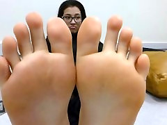 Teen asian mother and soom soles
