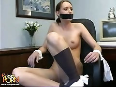 daughter alone with father Gagged & Chair Tied Bondage