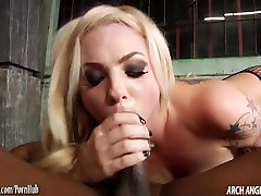 Petite blonde rammed in the ass by big sunny lione with husband cock
