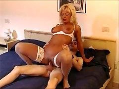 Horny jap secretariat Mom and Young Boy