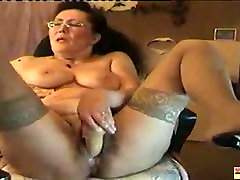 Old Granny Dildoing on Cam, Free loud milf fucked Porn ed
