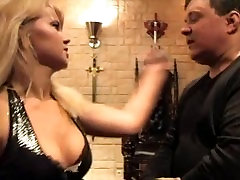 Adorable Mistress Valeria continuously faceslapping her slave