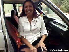 Hot mandy mioz 2018 masturbates in the car