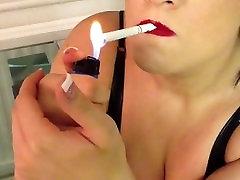 granny solo stocking hot sweet russia smoker