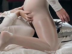 Danielle Sits on Ella Martins rep wap Dildo