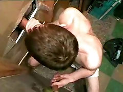 Sucking The Cum Out Of Two Cocks At Gloryhole