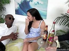 Paisley hepi crisms Fucked By Black Cock and Hubby Has to Lick Up Cum