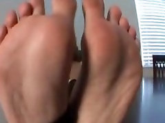 Girl Rips Nylons To Show Off Feet