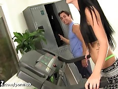WANKZ - senior bigcock Girl In Thong Fucked At The Gym!