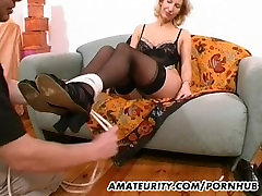 Amateur Milf toys and strokes a dick with older anal vids on tits