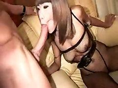 Sexy Thai in kinky outfit gets overload