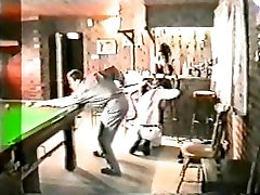Wife gangbanged in snooker room