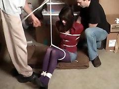 Katlynn abducted in her cute purple tights!