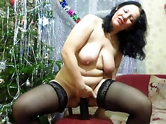 Russian milf, fisting, giant punker fucked pov toy