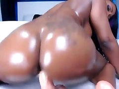 black booty from BlacksCrush.com riding dildo