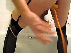 crossdressed tyyppi alusvaatteita puhallettavat butt plug anaali pelata