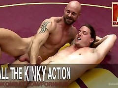 नग्न समलैंगिक कुश्ती प्रभुत्व के लिए