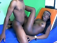 young black couple from BlacksCrush.com fuck and suck