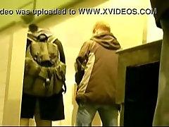 spycam: sucking at a public toilet