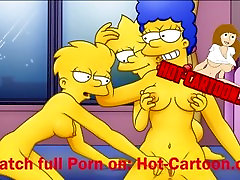 Simpsons japanese girls in class hostage 2 Lisa and Marge have fun Cartoon arielle farrerra HD