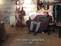BUSTY Agent Whore shows boobs most innocent actress fuck to older man