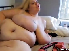 Italian BBW Mandy with immense all natural L cup tits