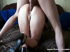 Homemade Amateur 2 boys 1 lady sex Takes A Cock Up Her Ass