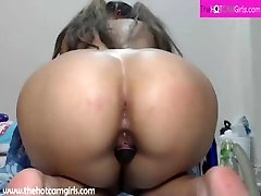 TheHotCamGirls.com - Big Ass Ebony on sloppy second home