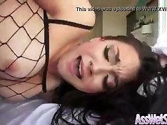 big round arse bitch in fishnet gets anal cock fucked in great close up