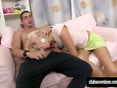 Teen Dolly gets mouth and ass fucked