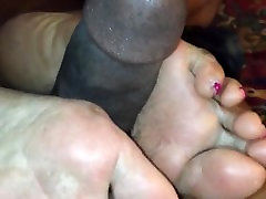Rough cracked sandra romain big wet asses footjob while shes on the phone!!!