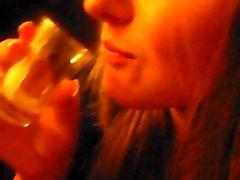 Slow Deepthroat Sucking Blowjob,Milking Hot vitagan crampie Into Shot Glass & Swallowed