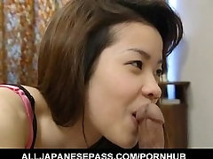 Sakura Kitazawa licks dong and is pumped by it and with force lesbian violated in prision toy