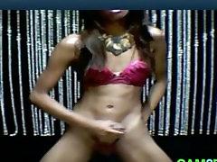 Big Cock Ladyboy Cums and Spreads Her Ass: Tranny Porn 57