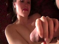Xmas cock tease & tug by Kaci Starr