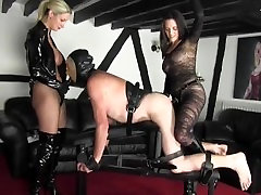Two hot Dominas fuck Guy