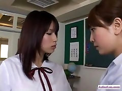 school asian lesbian action
