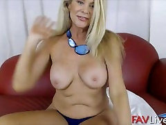 Hot busty old Lauren Taylor who loves young men
