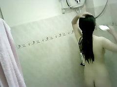 Tiny hand fuckhand Teen Bathing Spy-cam
