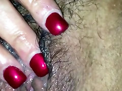 Fingering and fucking an extremely sticky pussy.