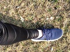 Ma kõndida sexi wiht dady lateks spadnex ja kusi avalik park