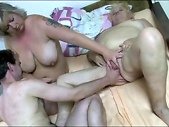 Granny fucked as she licks young ass grind on dick pussy