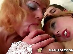 Teen and intertadmad porn trio