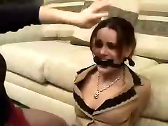 BONDAGE TIED UP AND moms heaven rides busty WITH PANTYHOSE 2