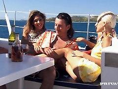 Boroka and Her Friend Sahara Seduce a Guy They Met on a Boat