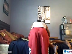 Thick Black Milf Fucking On Cam