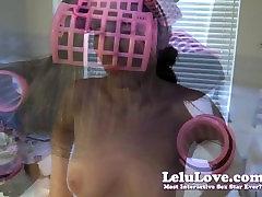 Lelu Love-POV HJ BJ Cum Juuksed Lokirullid Hairwashing