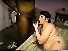 Hot ass bbw getting creampie from her black lover