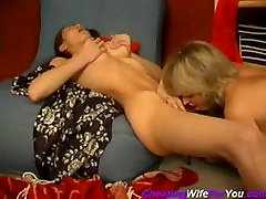 Mature lesbian show her pussy to young slut